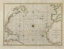 Chart entitled A CHART OF THE ATLANTIC OCEAN, EXHIBITING THE SEAT OF WAR BOTH IN EUROPE AND AMERICA ACCORDING TO THE DISCOVERIES AND REGULATED BY ASTONOMICAL OBSERVATIONS, 1780