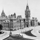 Photograph of Centre Block, view from west, after 1880