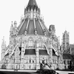 Photograph of Library of Parliament, west side, after 1885