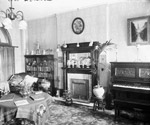 Photograph of furnishings in a Centre Block room, ca. 1902