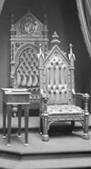 Photograph of the Throne in the Senate Chamber, 1912