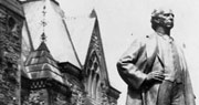 Photograph of the statue of Sir Wilfrid Laurier, Parliament Hill, July 1927