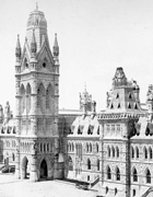 Photograph of Centre Block, view from east, ca. 1870