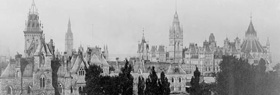 Photograph of the Parliament Buildings, viewed from Chateau Laurier hotel, 1910