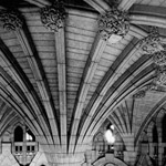Photograph of central column of Confederation Hall, 1920s