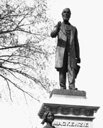 Photograph of the statue of Alexander Mackenzie, Parliament Hill, no date