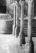 Photograph of pillars at the entrance to the House of Commons, 1905
