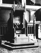 Photograph of Speaker's Chair, House of Commons, after 1921