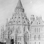 Photograph of Library of  Parliament, west side, ca. 1880-1890