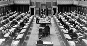 Photograph of House of Commons in session, March 10, 1938