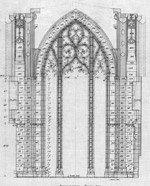 Architectural drawing of Memorial Chamber arch, 1925