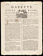 Page of a Montréal newspaper, February 10, 1779