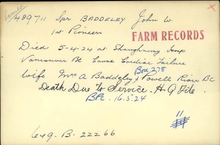 Title: Veterans Death Cards: First World War - Mikan Number: 46114 - Microform: armitt_harry