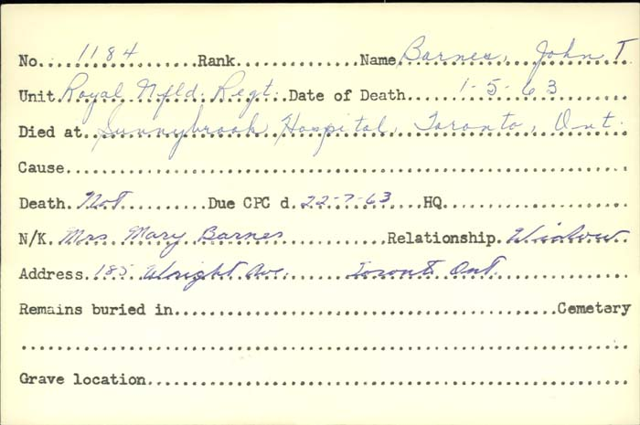 Title: Veterans Death Cards: First World War - Mikan Number: 46114 - Microform: badeau_eugene