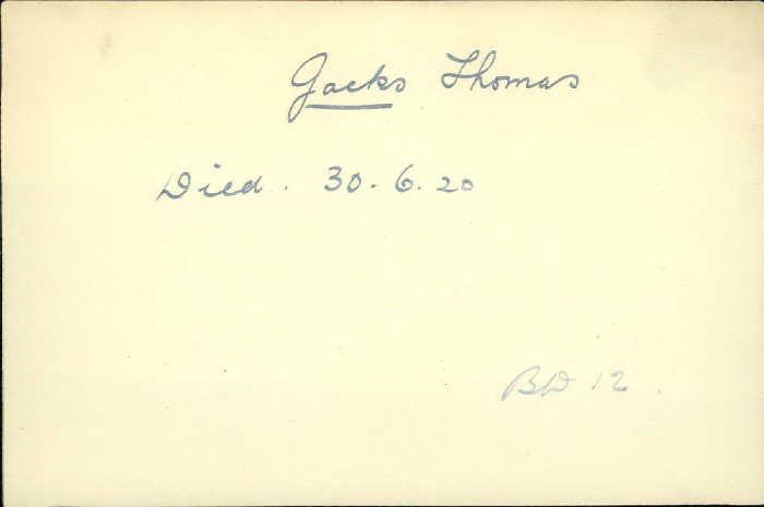 Title: Veterans Death Cards: First World War - Mikan Number: 46114 - Microform: hunter_a