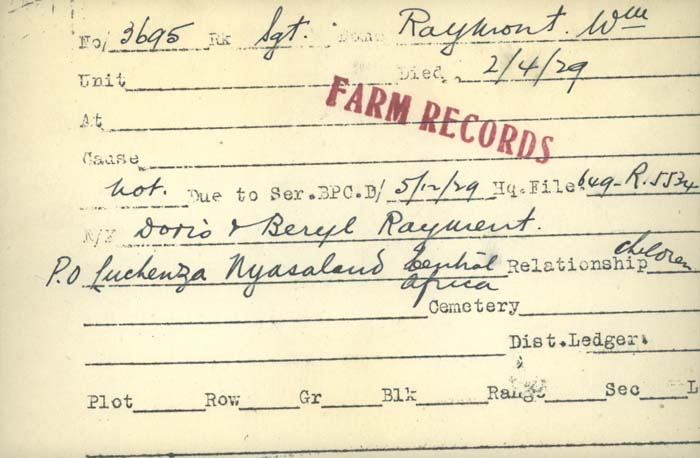 Title: Veterans Death Cards: First World War - Mikan Number: 46114 - Microform: proulx_p