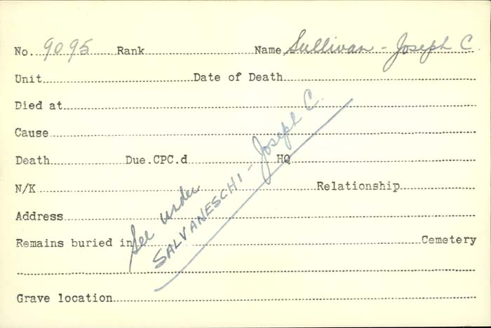 Title: Veterans Death Cards: First World War - Mikan Number: 46114 - Microform: stewart_r