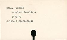 Hall, Thomas