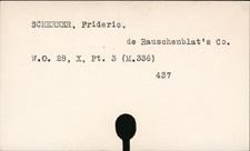 Scherner, Frideric de Rauschenblat's Co.