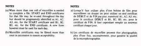 Microfilm Certification Forms - Notes