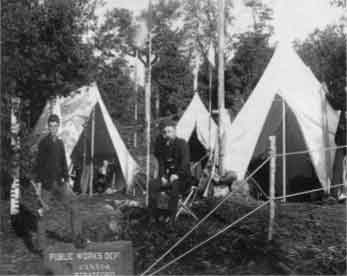 Engineer's Camp (Survey). Sheguiandah, Manitoulin Island, Ontario. September 1885.