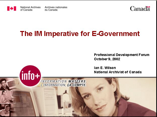 The IM Imperative for E-Government