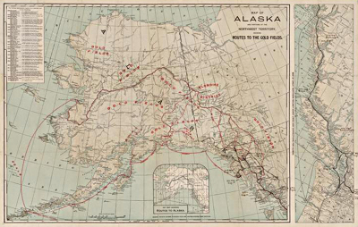 Image of a map entitled Alaska, 1898