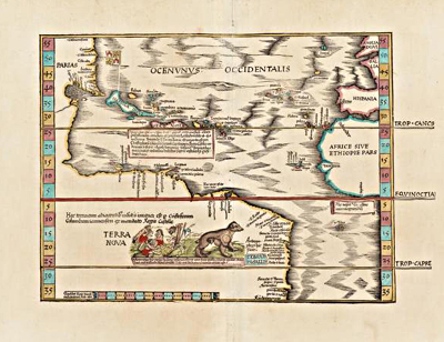 Image of a map entitled Ocenunus Occidentalis, 1541