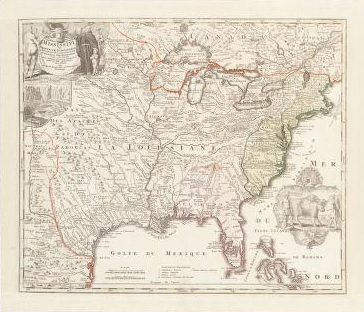 Image of a map entitled Amplissima regionis Mississipi, 1720