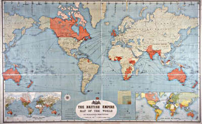 Image d'une carte intitulée « The British Empire, 1893 »