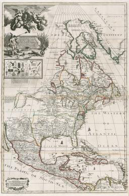 Image of a map entitled North America, 1714