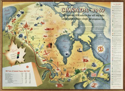 ARCHIVED A Tale From The Map Vault Toolkit The Learning Centre - Old map of canada