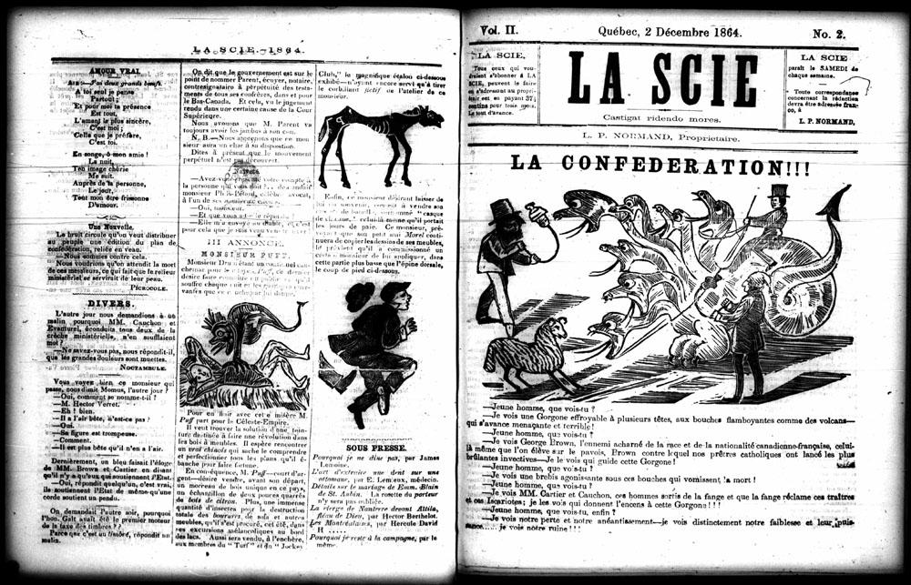Caricature, LA CONFÉDÉRATION!