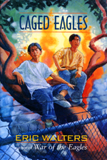 Cover of book, CAGED EAGLES