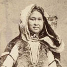 Studio portrait of an Inuit woman, probably from the Eastern Arctic, who came south on a New Bedford whaler, and was possibly on a TOUR when photographed, New York, New York, 1860