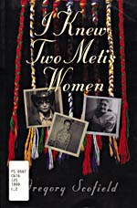 Black book cover with a montage of photographs and a Métis sash