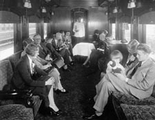 Photo of the CPR Observation Lounge, new solarium car, 1920's