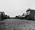 Photo de la rue Main à Calgary, en Alberta, en 1886