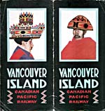 Brochure of the Canadian Pacific Railway, 1923, reading VANCOUVER ISLAND, with illustrations of West Coast Native art