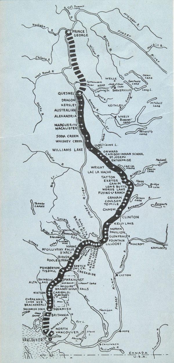 The Pacific Great Eastern Railway - Train map eastern us