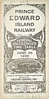 Brochure of the Prince Edward Island Railway, 1899, with timetable