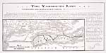 Brochure of the Yarmouth & Annapolis Railway, 1893, [back], with a map of the railway routes and ferry connection