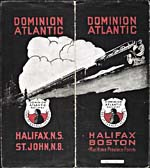Brochure du Dominion Atlantic Railway, 1919, illustrée d'un train en trois couleurs