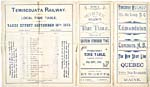 Brochure of the Temiscouata Railway, 1893,  with timetable