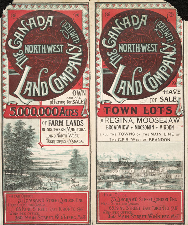 brochure of the canada northwest land company limited advertising town lots for sale