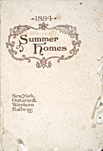 Brochure of the New York, Ontario & Western Railway, 1894, reading SUMMER HOMES