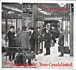Brochure of the Canadian Pacific Railway, 1926, with photograph of people on a boarding platform at Windsor station in Montréal