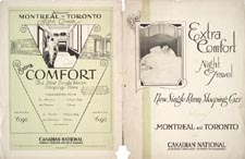Brochure of the Canadian National Railways, 1921, advertising NEW SINGLE ROOM SLEEPING CARS