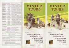 Brochure of the Grand Trunk Railway, 1913-1914, advertising winter tours to Washington, Oregon, California, Colorado and Texas