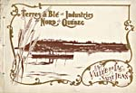 Brochure of the Quebec & Lake St. John Railway, 1902, reading TERRES À BLÉ ET INDUSTRIES DU NORD DE QUÉBEC, with an illustration of a steamship